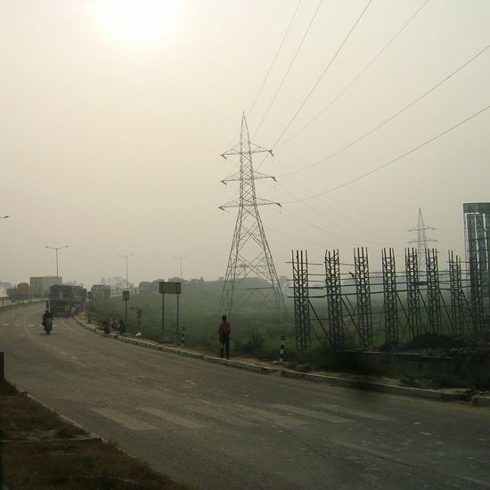 Road Roadtrip Electricity Tower Metalled Road India Indian Road Road Sign Road Trip People Highway Truck Motorbike Motorcycle Indian Highways On The Way