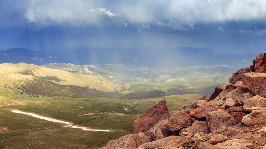 Beauty In Nature Cloud - Sky Colorado Geology Horizon Over Land Landscape Mount Evans Mountain Mountain Range Nature No People Non-urban Scene Outdoors Rock - Object Rock Formation Scenic Byway Scenics Sky Storm Cloud Summer The Great Outdoors - 2016 EyeEm Awards