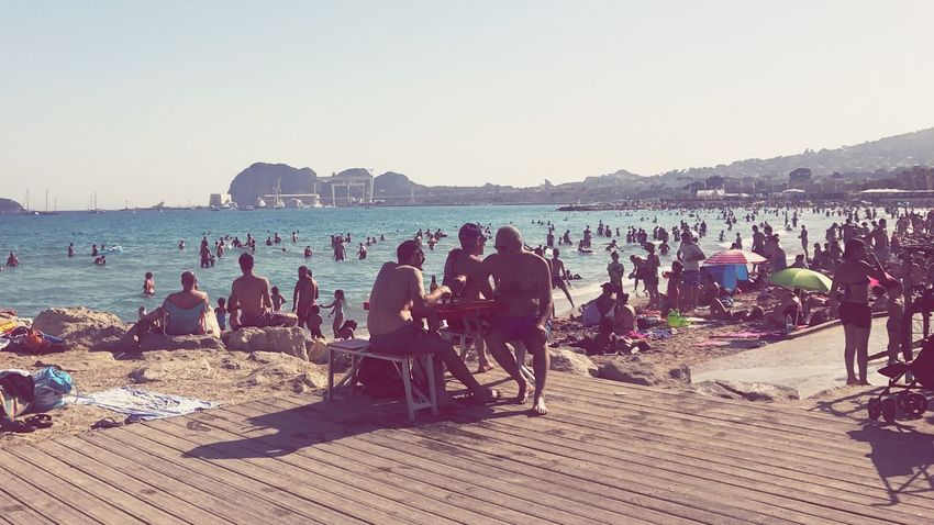 Crowdedbeach Chests Beach LaCiotat