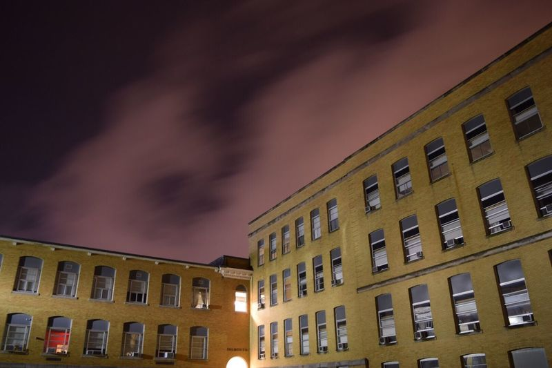 Building Exterior Architecture Low Angle View Built Structure Sky No People City Outdoors Night Long Exposure Illuminated Clouds Nightphotography