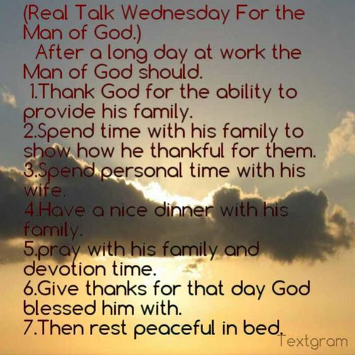 Real Talk Wednesday For The Man Of God