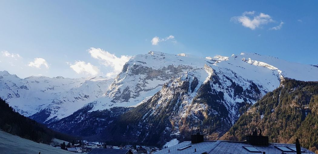 Titlis Titlis,Switzerland Mountain Water Power In Nature Snow Pixelated Blue Sky Mountain Range Cloud - Sky Snowcapped Mountain Flock Of Birds Migrating Rock Formation Rocky Mountains Rugged