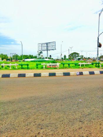 Horse Roundabout City Image Landmark Beauty