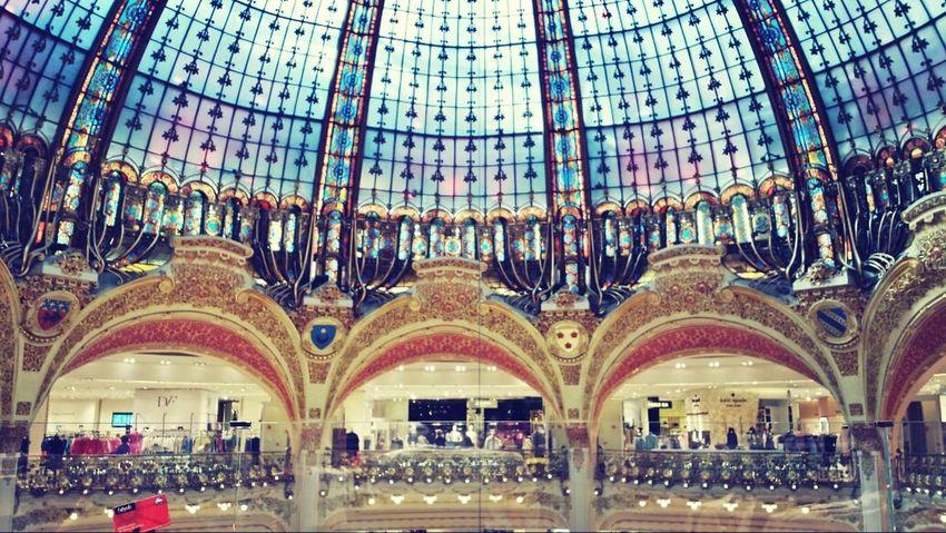 Paris Galeries Lafayette Coupole Galeries Lafayette Haussmann Colours