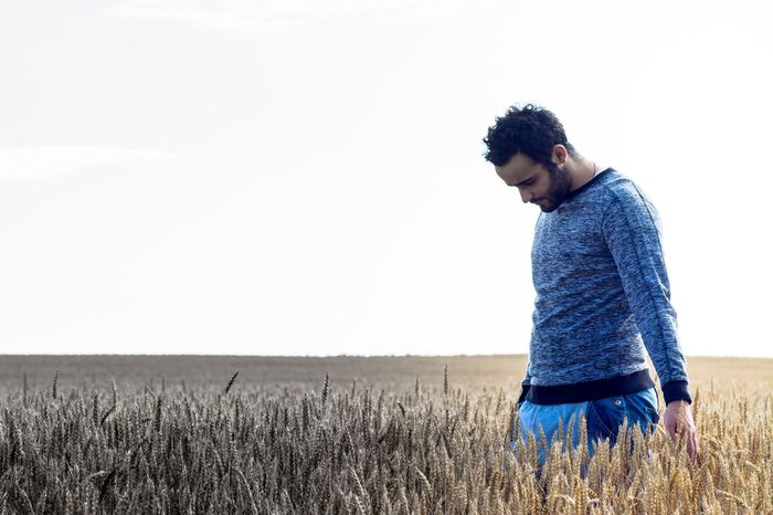 One Person One Man Only Young Adult Cereal Plant Field One Young Man Only Only Men Men Adults Only Nature Rural Scene Growth Outdoors Adult People Day Sky Wheat Model Fine Art Photography Free EyeEm Best Shots