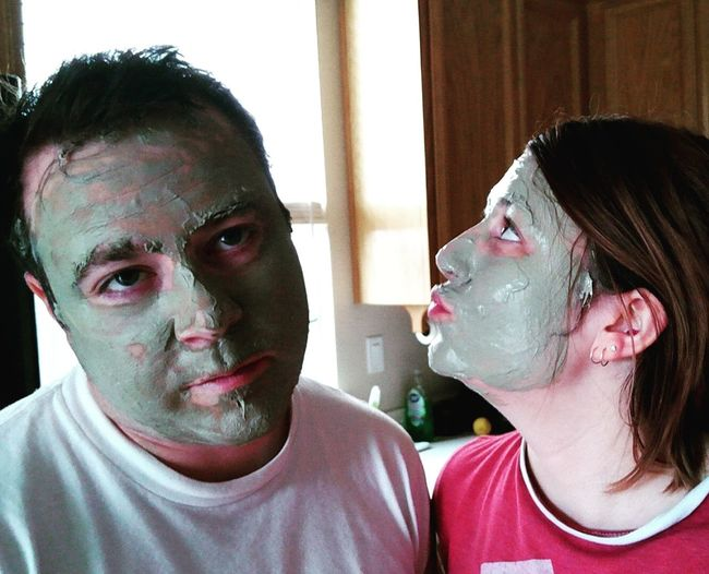 Mud mask date. MudMask✨ Two People Date Night Muddy Face Mask Young Adult Human Face Facial Mask - Beauty Product Real People Lifestyles Adult