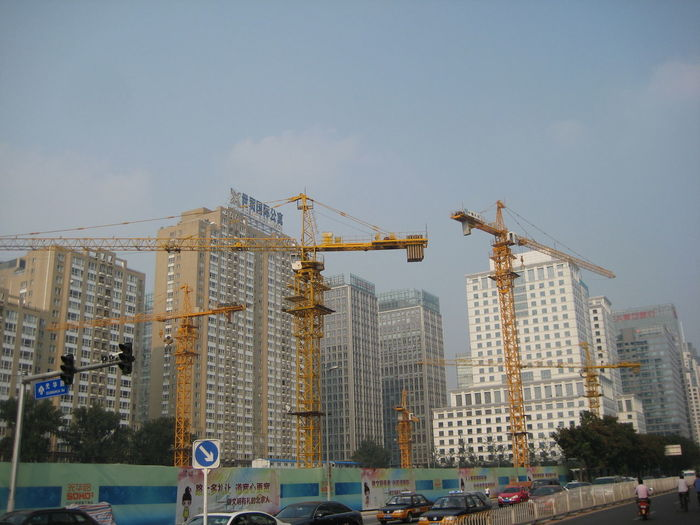 Architecture Beijing Beijing, China Building Exterior Built Structure Construction Construction Site Tower Cranes Urban Urban Exploration