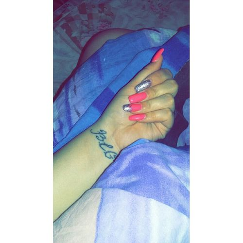💅🌜🌛🌃MyNewNails Cutenails Pinknails Goodnight Haveanicedream