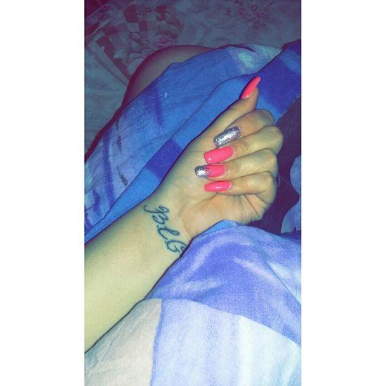 💅🌜🌛🌃MyNewNails Cutenails Pinknails Goodnight Haveanicedream