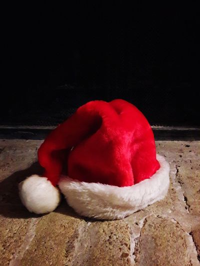 Left behind... My Original Photo Popular Photos EyeEm Selects Fireplace On The Hearth Christmas Santa Hat Red No People Indoors  Close-up Day
