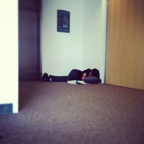Taking a nap at school collage years PCC Chillin Thisguyssleeping
