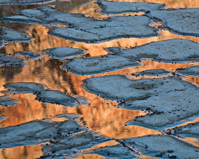 Full frame shot of water on landscape