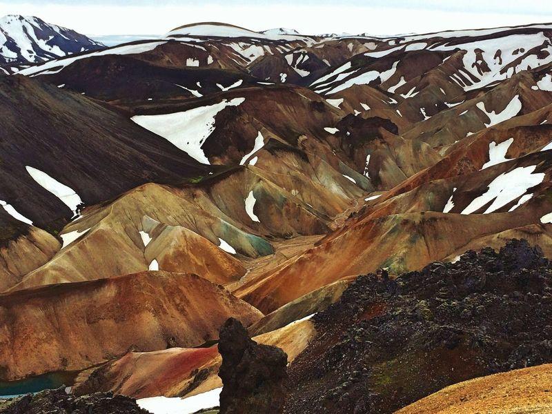 Iceland Beautiful EyeEm Nature Lover Trecking Mountains Snow Landmanalaugar