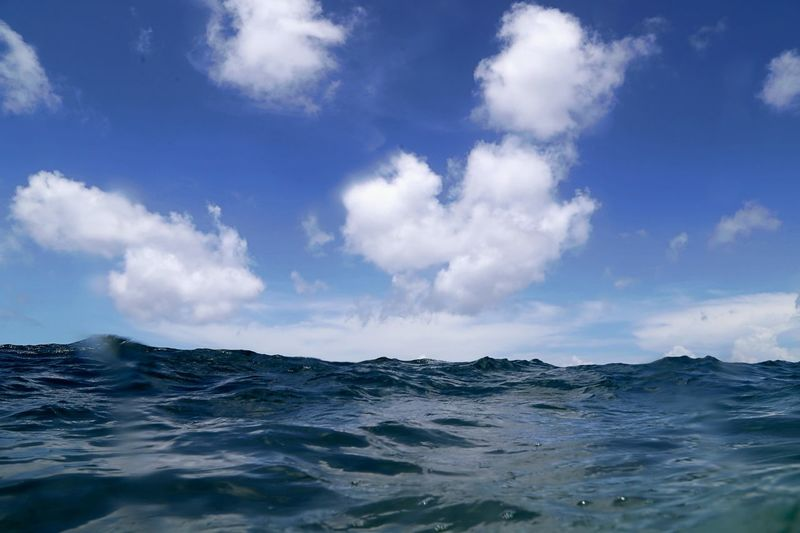 Beauty In Nature Blue Cloud - Sky Day Horizon Over Water Nature No People Ocean Open Water Outdoors Rippled Scenics Sea Sky Tranquil Scene Tranquility Water Waterfront