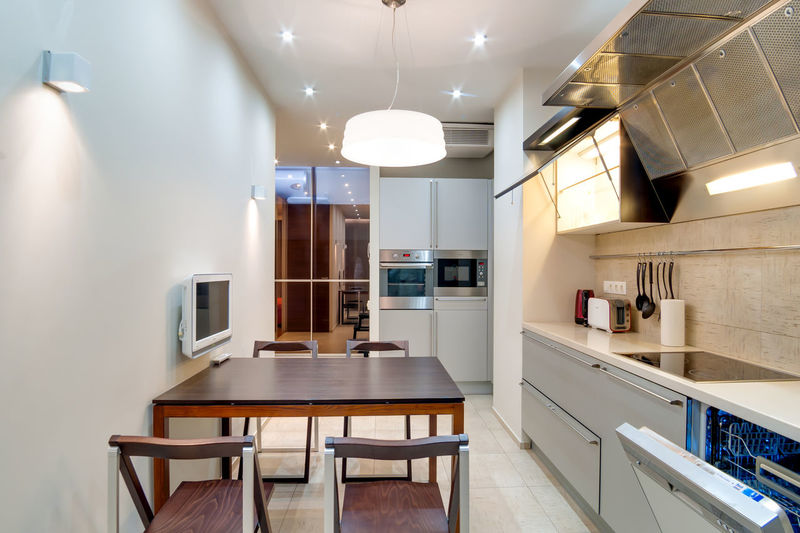 Home Lighting Equipment Indoors  Domestic Room Modern Illuminated Home Interior Domestic Kitchen Table Kitchen Seat Home Showcase Interior Furniture Absence No People Ceiling Architecture Luxury Electric Light Wood - Material Cabinet Light Electric Lamp