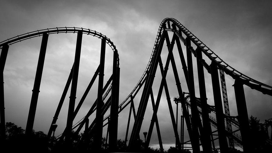 Low Angle View Of Rollercoaster