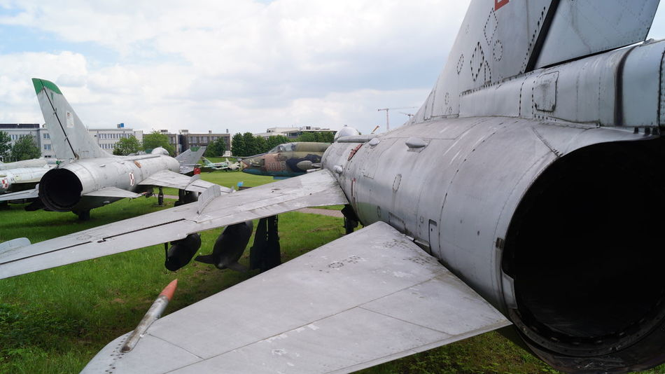 Aerospace Industry Air Vehicle Airplane Airport Airport Runway Commercial Airplane Day Jet Engine Mi Mig Mig I Sthlm MIG-21 Military Airplane No People Outdoors Polish Airforce Russian Saab Viggen Sky Transportation Ww2