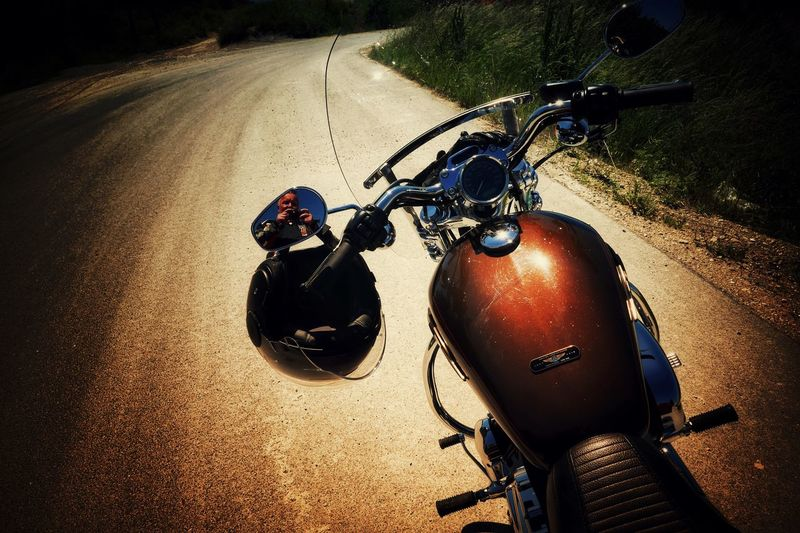 Live to ride....again! Motorcycle Road The Way Forward Bicycle Scenics Capture The Moment Daily Inspiration Asphalt Harleydavidson Self Portrait