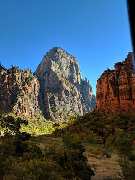 Gorgeous view overlooking the road to The Narrows. National Park Outdoors Utah Zion National Park Park Natural Landmark Rocky Mountains Natural Arch Extreme Terrain Moab  Arid Climate Eroded Geology Sandstone Physical Geography Rugged Arid Landscape Canyon Rock Hoodoo Rock Face