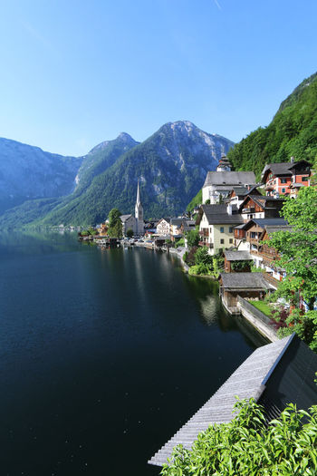 Beautiful town of Hallstatt by the lake in Austria Austria Church Reflection Salzkammergut Travel UNESCO World Heritage Site Beauty In Nature Europe Hallstatt Heritage Lake Lakeside Mountain Popular Scenery Scenics - Nature Tour Tourism Town Water