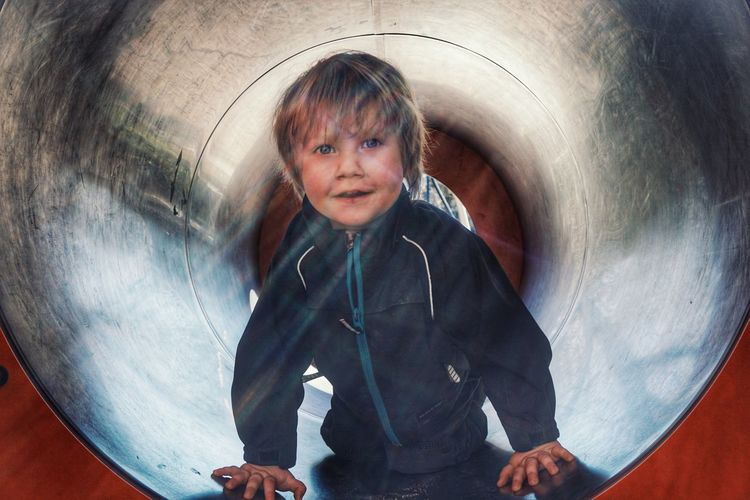 Child Childhood 2019 Niklas Storm April Playing Portrait Looking At Camera Close-up Outdoor Play Equipment Kid Playground My Best Photo