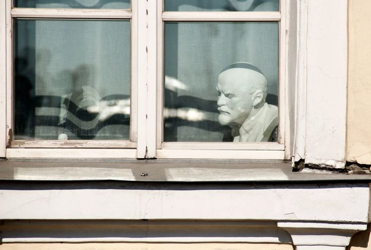 Sculpture Bust  Lenin Vladimir Iliich Lenin HEAD No People No Person History Looking Through Window Window Close-up Architecture Built Structure Historic The Street Photographer - 2019 EyeEm Awards