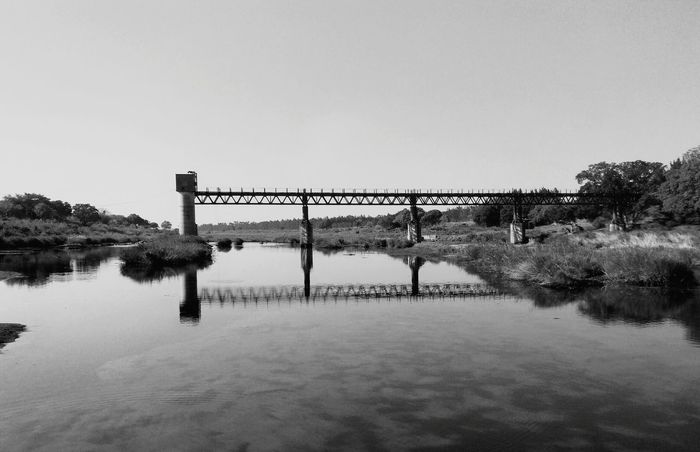 Reflection Outdoors Rural Scene Nature Water No People Sky Agriculture Scenics Day Landscape Beauty In Nature Old Bridges Abandoned Places Riverbank Bushveld Limpopo Riverside Photography Reflections In The Water