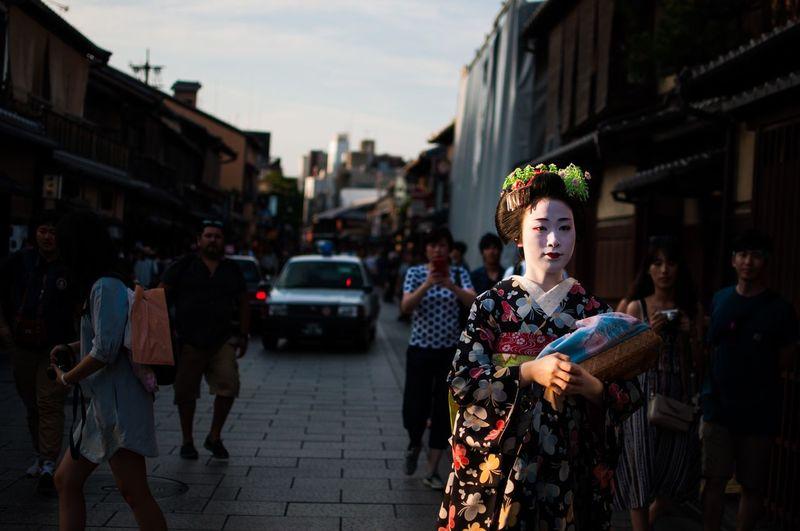 Ultimate Japan Geisha Gion Japan Street Streetphotography Spotlight Sunset