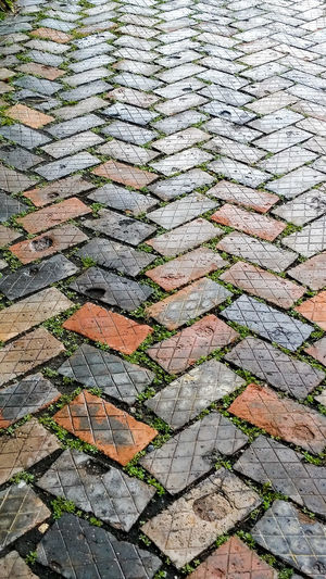 Full Frame Backgrounds Day No People Pattern Outdoors Close-up Brickpathways Brick Pavement Brick Path
