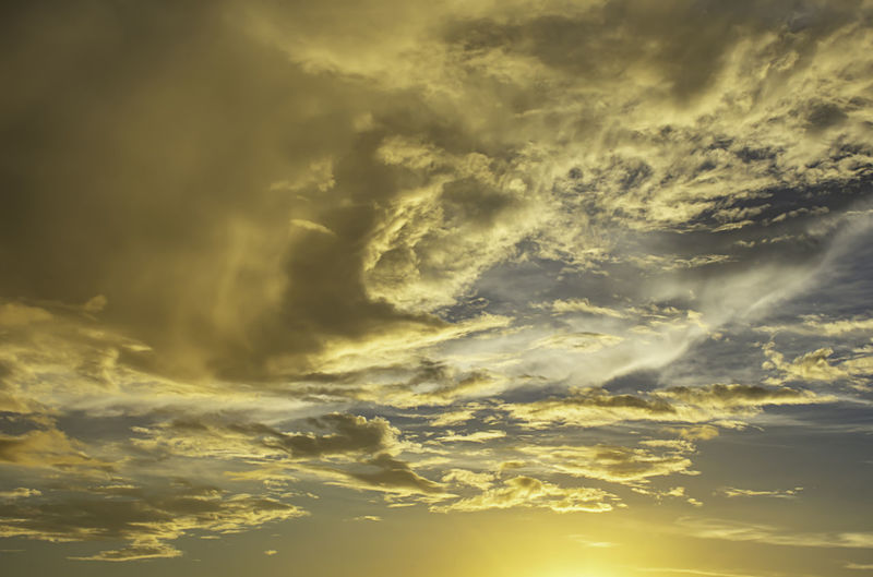 The beauty of the sky with clouds and the sun. Cloud - Sky Sky Beauty In Nature Scenics - Nature Dramatic Sky Nature Storm Tranquility Cloudscape Sunset No People Low Angle View Overcast Storm Cloud Sunlight Outdoors Idyllic Tranquil Scene Backgrounds Power In Nature Meteorology Ominous