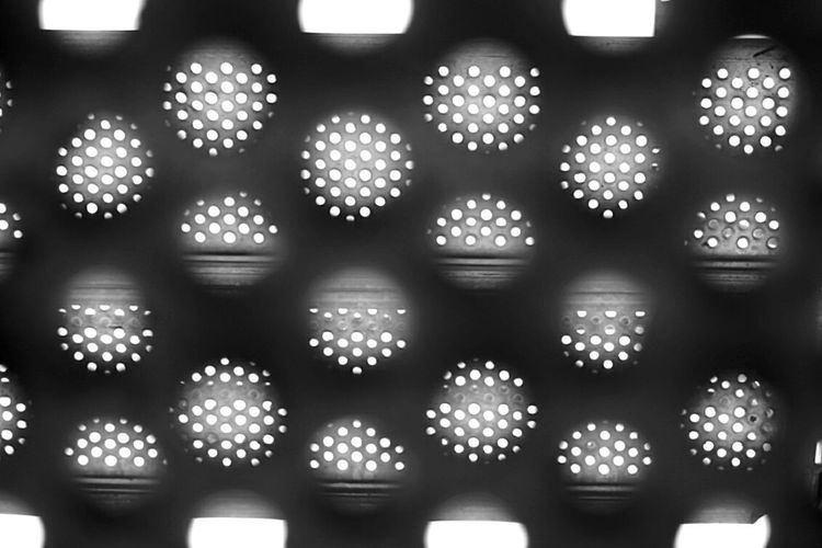 Metal pattern Epattern Spotted Backgrounds Indoors  No People Close-up Day Street Photography Streetphotography City Abstract Architecture Built Structure Blackandwhite Blackandwhite Photography Black And White Black And White Photography Black&white