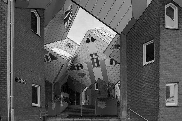 Kubuswoningen - Piet Blom Archineos Ugo Villani Architecture Architecture Architettura B&n B&w Bianco E Nero Black And White Blanco Y Negro Building Exterior Built Structure City Kubuswoningen Monochrome Netherlands No People Olanda Outdoors Piet Blom Rotterdam Architecture Urban
