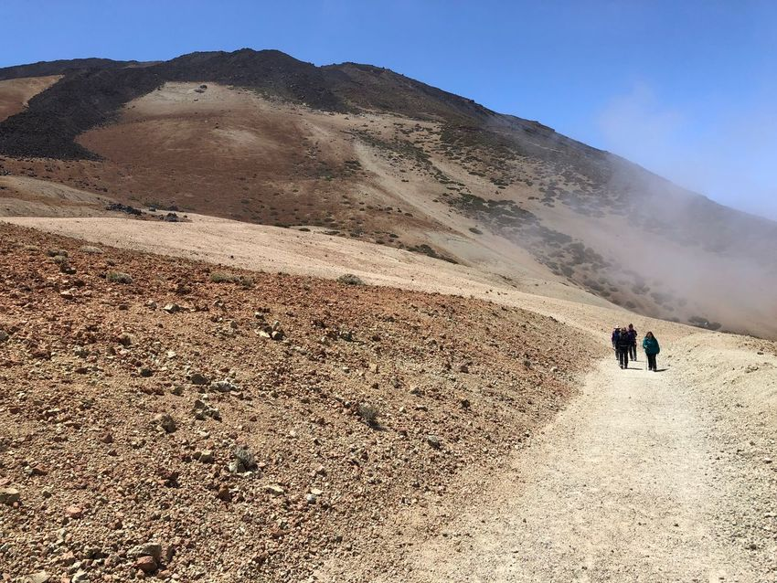 Hiking, Teide National Park, Tenerife 🇪🇸 Nofilter Teide National Park Mount Teide Volcano Teide Tenerife SPAIN Cloud - Sky Rock - Object Hiking Mountain Real People Land Mountain Two People Sky Day Beauty In Nature Sunlight Nature Leisure Activity The Traveler - 2018 EyeEm Awards