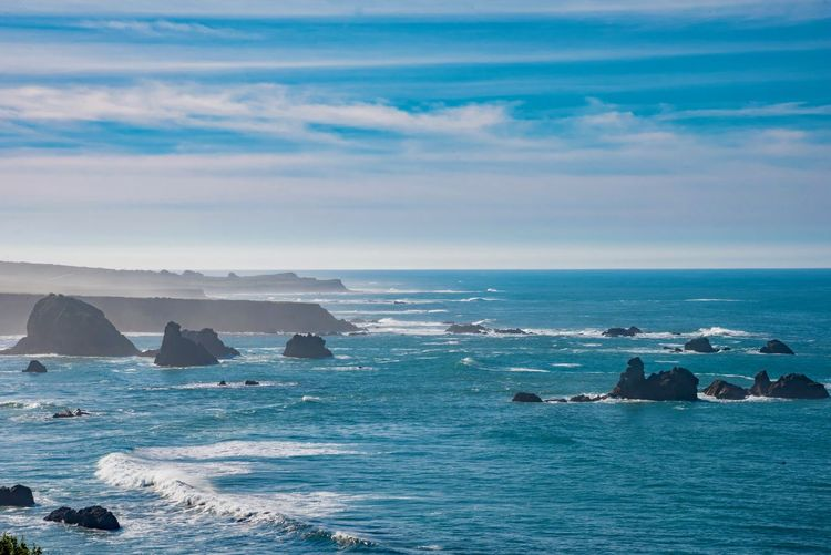 Sea Water Sky Scenics - Nature Beauty In Nature Horizon Horizon Over Water Rock Land Cloud - Sky Beach Nature Wave Solid Rock - Object Day Motion Waterfront Tranquil Scene No People Outdoors Stack Rock