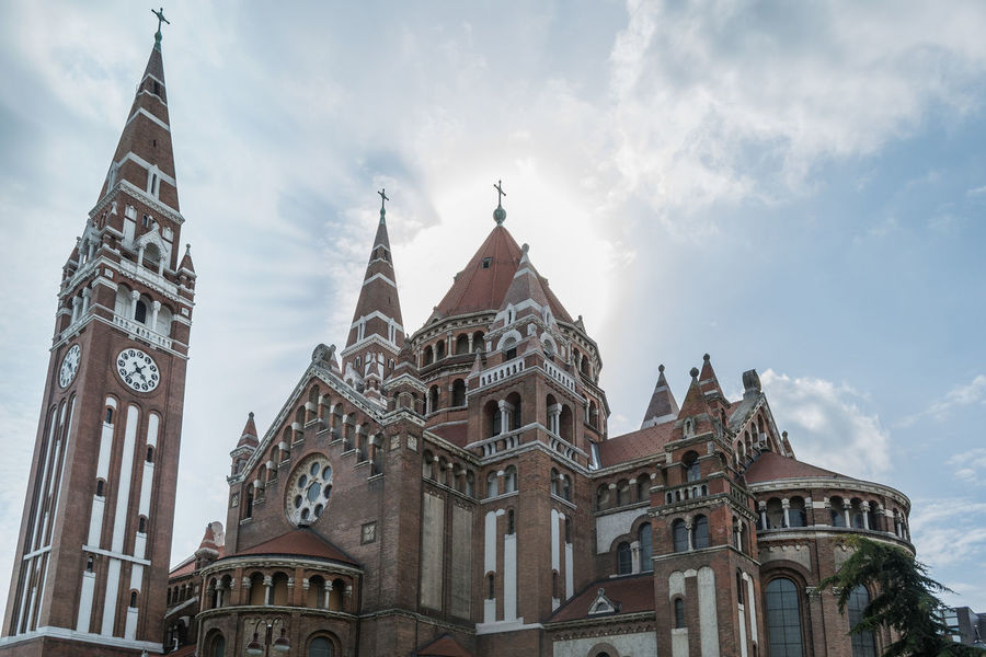 Szeged Dome Politics And Government City Government History Business Finance And Industry Sky Architecture Built Structure Place Of Worship Cathedral Religion Temple Temple - Building Cross Gothic Style Church Tower