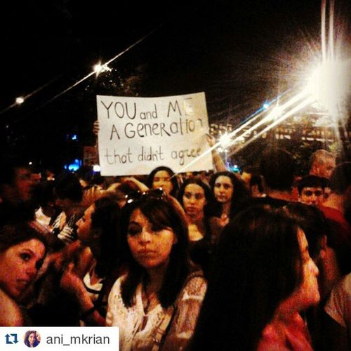 Repost @ani_mkrian ・・・ You and Me, a Generation that didn't agree Armenia Yerevan Baghramyan protest generation thatdidntagree electricyerevan