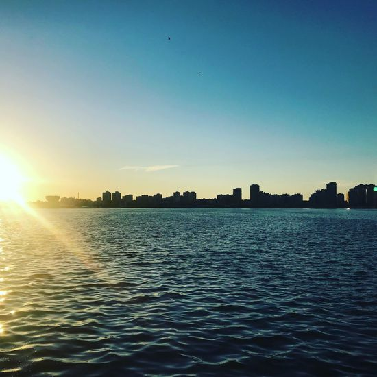 Kazan Sky Water Sunset Sunlight Scenics - Nature Beauty In Nature Built Structure Architecture Waterfront Nature No People Sun Blue City First Eyeem Photo