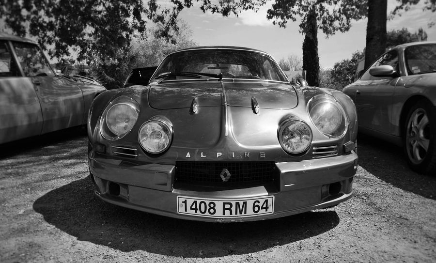 Renault Alpine A110 RenaultSport Renault Alpine French Car Vintage Car Old Car Retro Car Classic Car Sport Car Blackandwhite Black And White Black & White Blackandwhite Photography Black&white Black And White Photography Blackandwhitephotography Black And White Collection  Monochrome Carporn Car Porn Outdoor No People EyeEm Best Shots