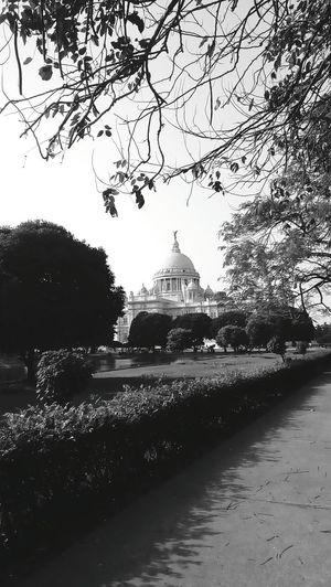 Victoriamemorial Day Sky Architecture History Tourism Tree Outing Pond Garden Blackandwhite Trees Trees And Sky Architecture Kolkata WestBengal India EyeEmNewHere