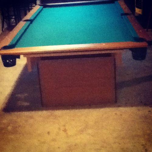 Thanks mom and dad!☺✌ Newpooltable Pooltable Yaya Thanks  momma nd dad haha basement cool haha