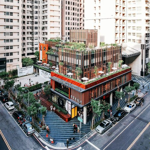 City Road High Angle View Street Architecture Building Exterior Built Structure