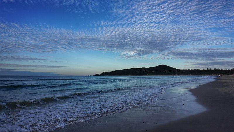 EyeEmNewHere Byron Bay Byron Bay Lighthouse Tranquility Horizon Over Water Scenics Sky Beauty In Nature Travel Destinations Landscape_photography Travel Photography Clouds Ocean Blue Beach Landscape No People Waves Water Outdoors Landscape_Collection Sea Vacations Travel Australia