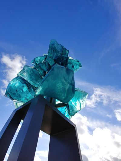 Tacoma Glass Art Glass Museum No Filter LG V30 Cyberspace Blue City Sky Cloud - Sky Turquoise Colored Sculpture