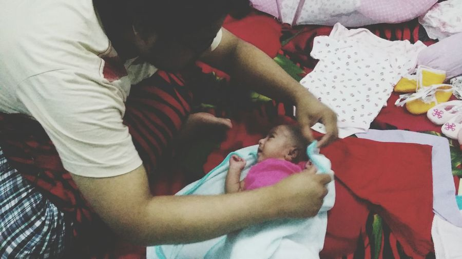 """ Newborn Baby Newuncle. My little princess 👸👸👸"