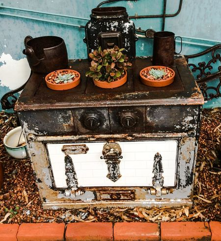 Wood Stove Planter Old To New Innovative_use_of_it