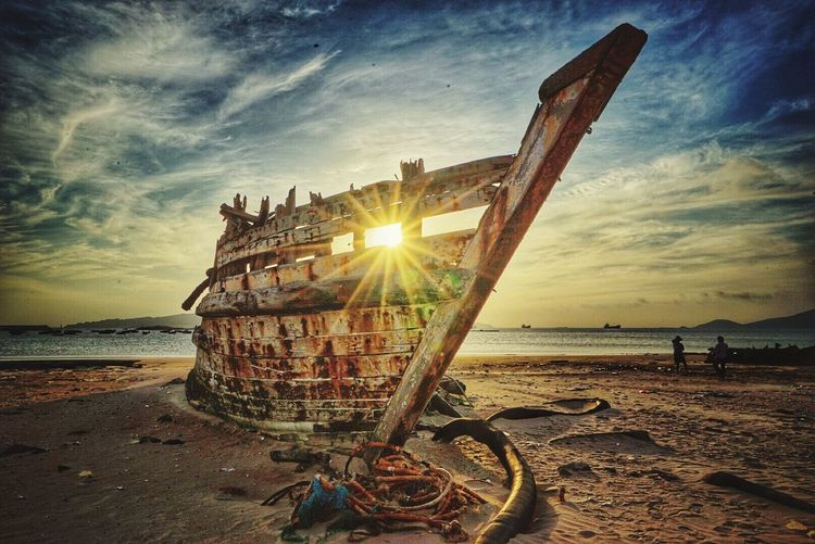 An old abandoned ship