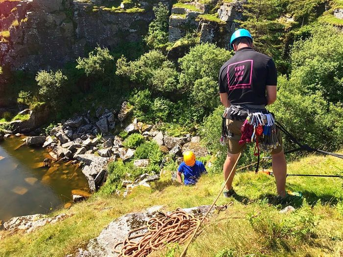 Love my job. Getting others into the outdoors The Great Outdoors - 2017 EyeEm Awards Beauty In Nature Outdoors Climbing Climbing Rocks Abseilling Quarry