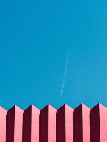 Blue Copy Space Clear Sky In A Row Low Angle View Built Structure Architecture Building Exterior No People Outdoors Day Sky Minimalism Thailand