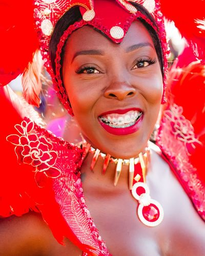 Women Around The World Grenadian Carnival Isle Of Spice Vibrant Color Portrait Tradition BlackWoman Islander Grenada Caribbean Lifestyles Smiling