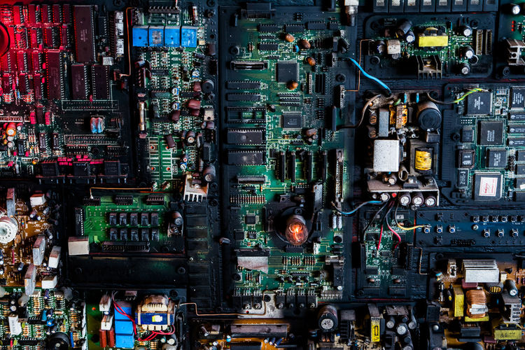 Full frame shot of computer chip